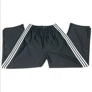 Other - Adidas Tear Away Sweat Pant 3 Stripes Button Snap